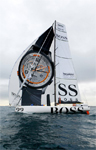 Photo of the Hugo Boss Boat at the Barcelona World Race