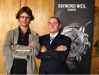 Photo of Laurie any Jay Kay for Raymond Weil